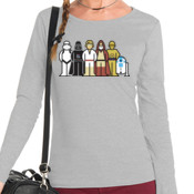 Star Wars Family - Camiseta Mujer Manga Larga