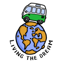 Living the dream (Adro) - Camisetas Personalizadas Hombre Manga Corta Design