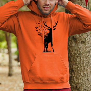 Deer Butterfly - Sudaderas Hombre Thumbnail