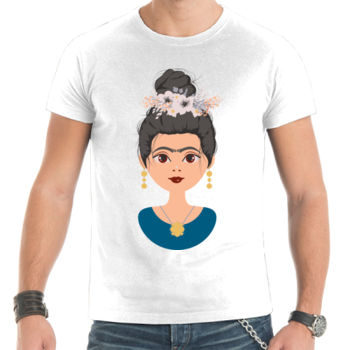 Camiseta Frida Kahlo (por Paranoia Records) Thumbnail